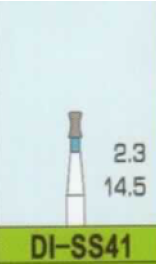 Diamantové vrtáčky do turbínky DI-SS41